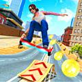 悬浮滑板特技赛车2019游戏