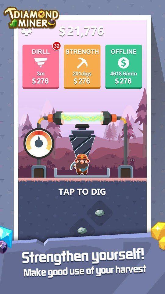 鉆石礦工挖寶者游戲安卓手機版圖片1