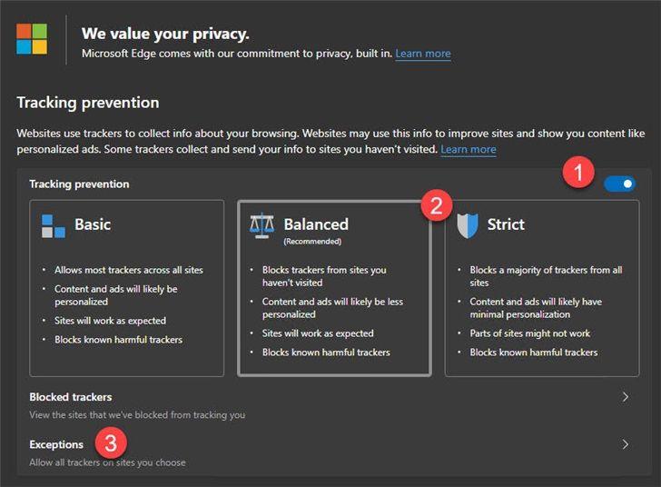 微软Chromium Edge浏览器跟踪防御功能,提高你的浏览安全性[多图]图片1