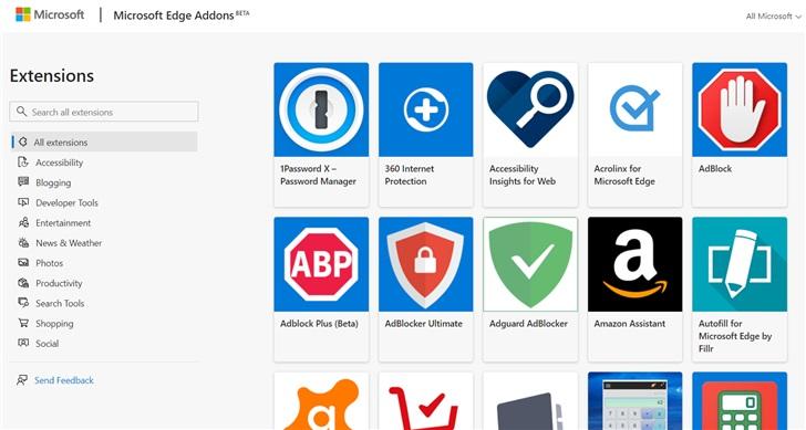 微软Edge浏览器插件最新震撼上线:总共162款扩展应用[多图]