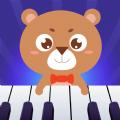 親親熊學彈琴