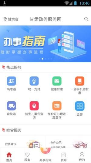 甘肃省政务服务网统一公共支付平台图1