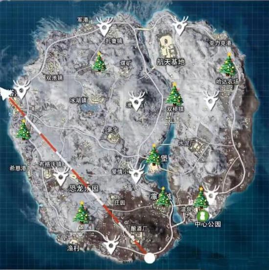 和平精英冰雪模式圣诞树在哪刷新?特殊物资刷新位置标点图分享[视频][多图]图片2
