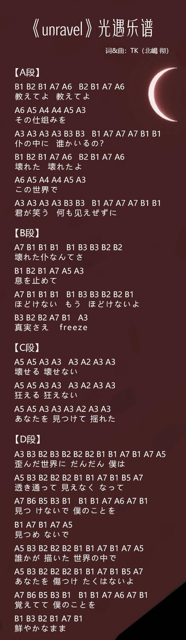 光遇东京喰种主题曲乐谱分享,乐谱弹奏方法图文解析[视频][多图]