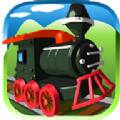 火车瓷砖拼图游戏