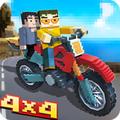 像素摩托车竞赛游戏