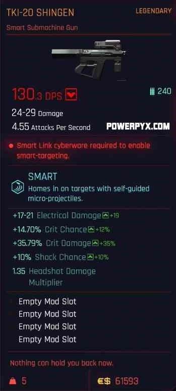 《赛博朋克2077》传说武器装备隐藏武器装备汇总