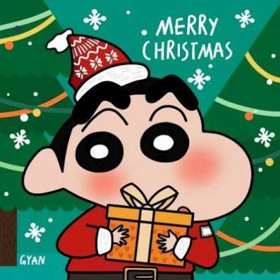 圣诞节蜡笔小新头像图1