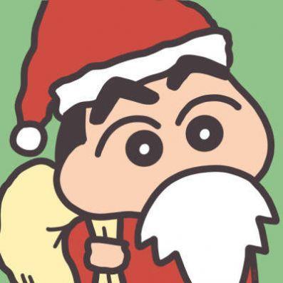 2020圣诞节可爱蜡笔小新情侣卡通头像图片大全下载图片1