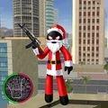 圣诞火柴人绳索英雄游戏