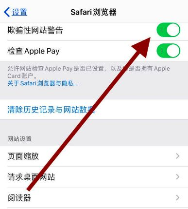 苹果自带浏览器如何开启欺骗性网站警告功能[多图]图片5