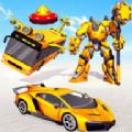 飞行巴士机器人车游戏
