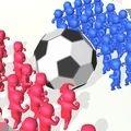 拥挤的足球游戏