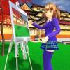 动漫女孩生活高中3D游戏