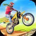 摩托车斜坡疯狂特技游戏