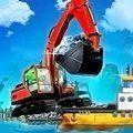 海上挖掘机模拟游戏