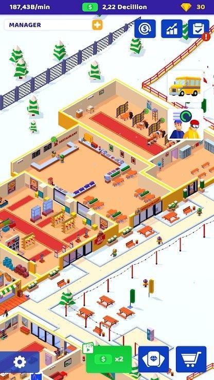 空闲滑雪大亨最新版图1