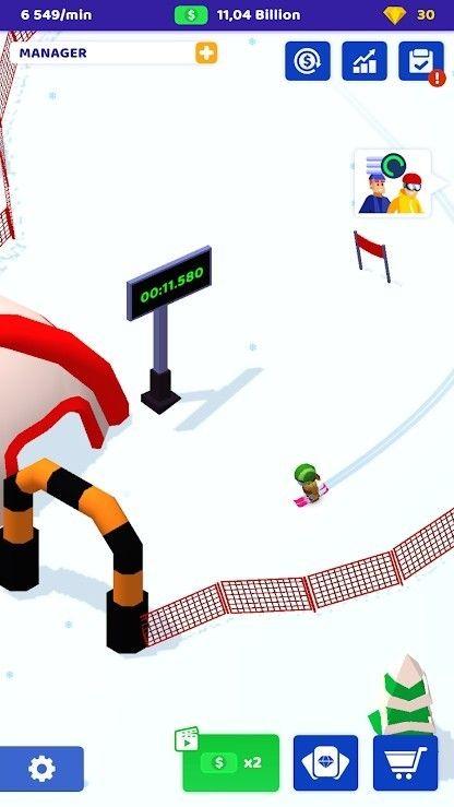 空闲滑雪大亨游戏最新版图片1